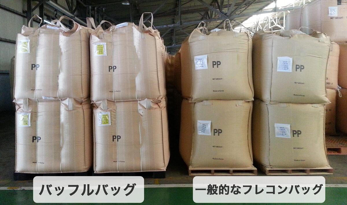 バッフルバッグとフレコンバッグの比較