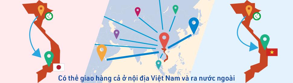 Có thể giao hàng cả ở nội địa Việt Nam và ra nước ngoài