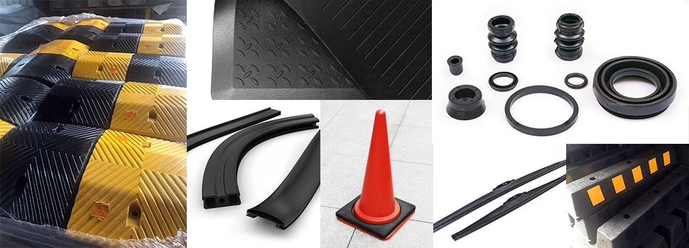 Various rubber molded products